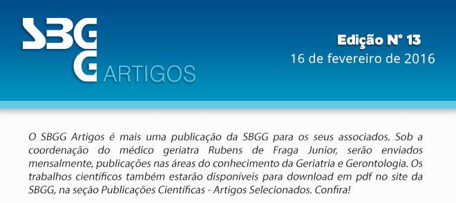 SBGG Artigos N° 13